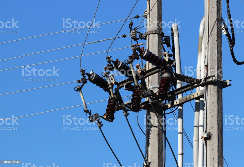 Electrical network of high voltage. Transportation of electricity...