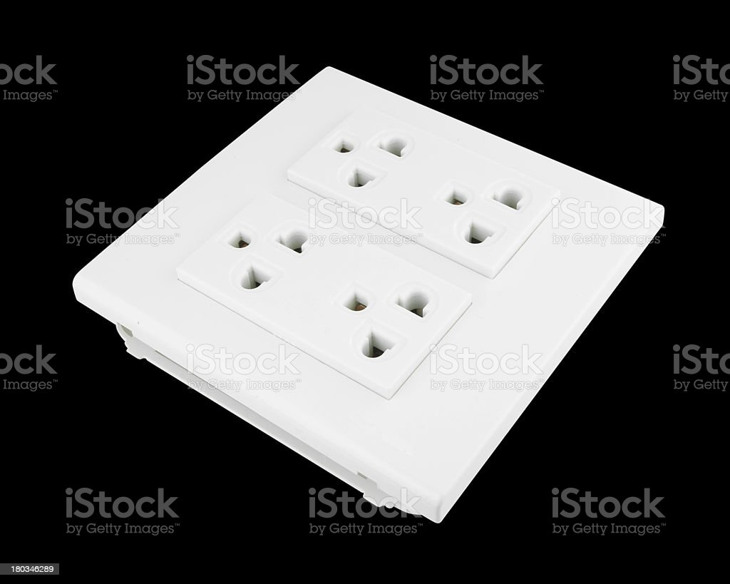 Electrical outlet (socket plug) royalty-free stock photo