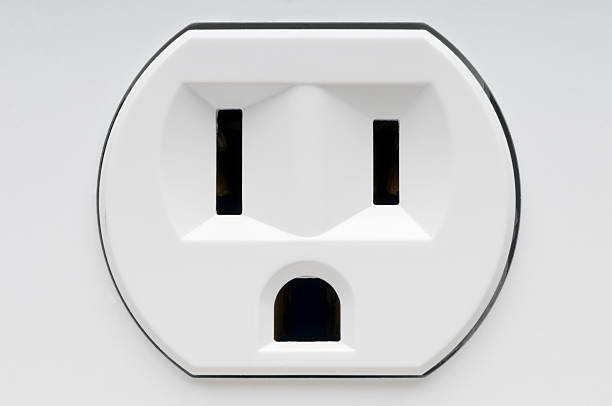Electrical outlet recepticle stock photo
