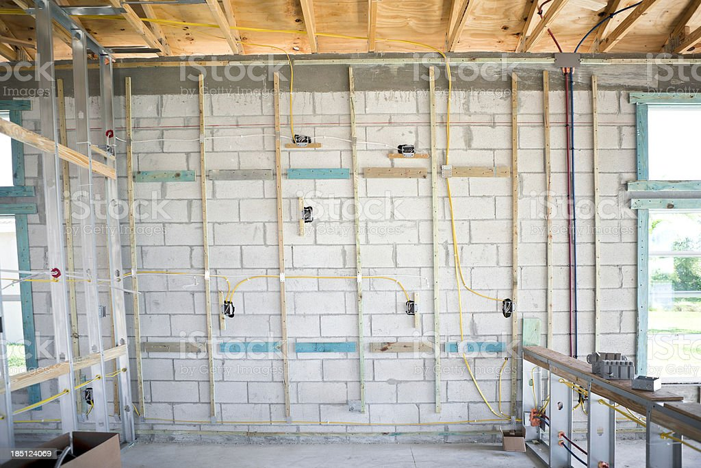 Electrical Outlet Rough In New Construction Stock Photo & More ...