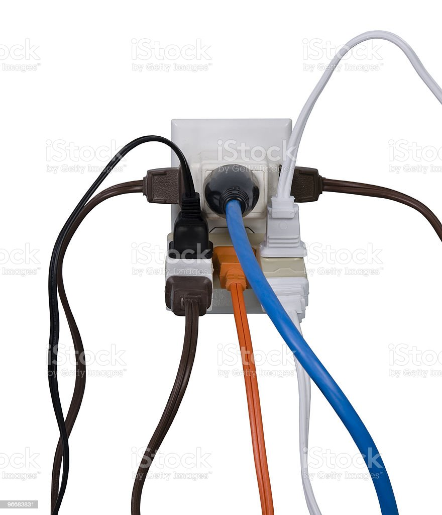 Electrical overload royalty-free stock photo