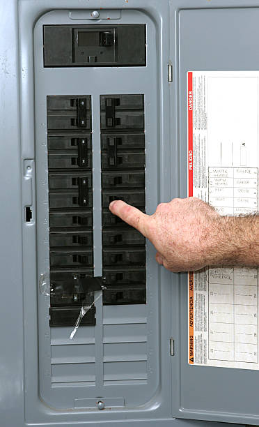electrical panel - fuse box stock photos and pictures