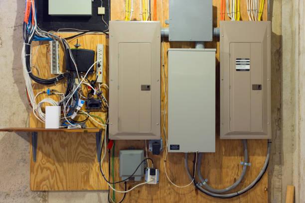 elektrische-panel - keller organisieren stock-fotos und bilder