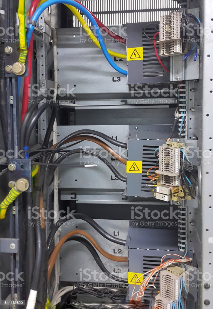 electrical part and accessories in the control cabinet , control and...