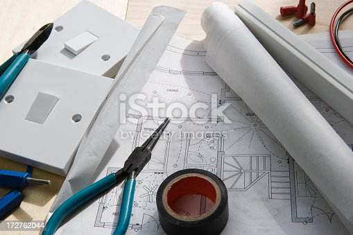 Electrical Planning Stock Photo & More Pictures of Blueprint