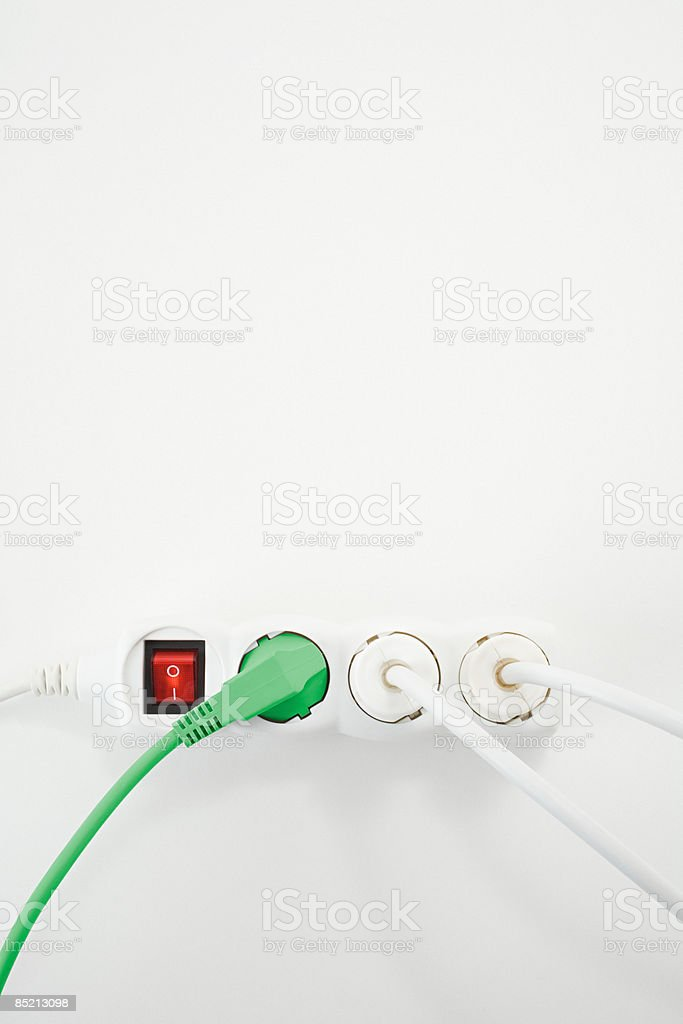 Electrical plug and socket royalty-free stock photo
