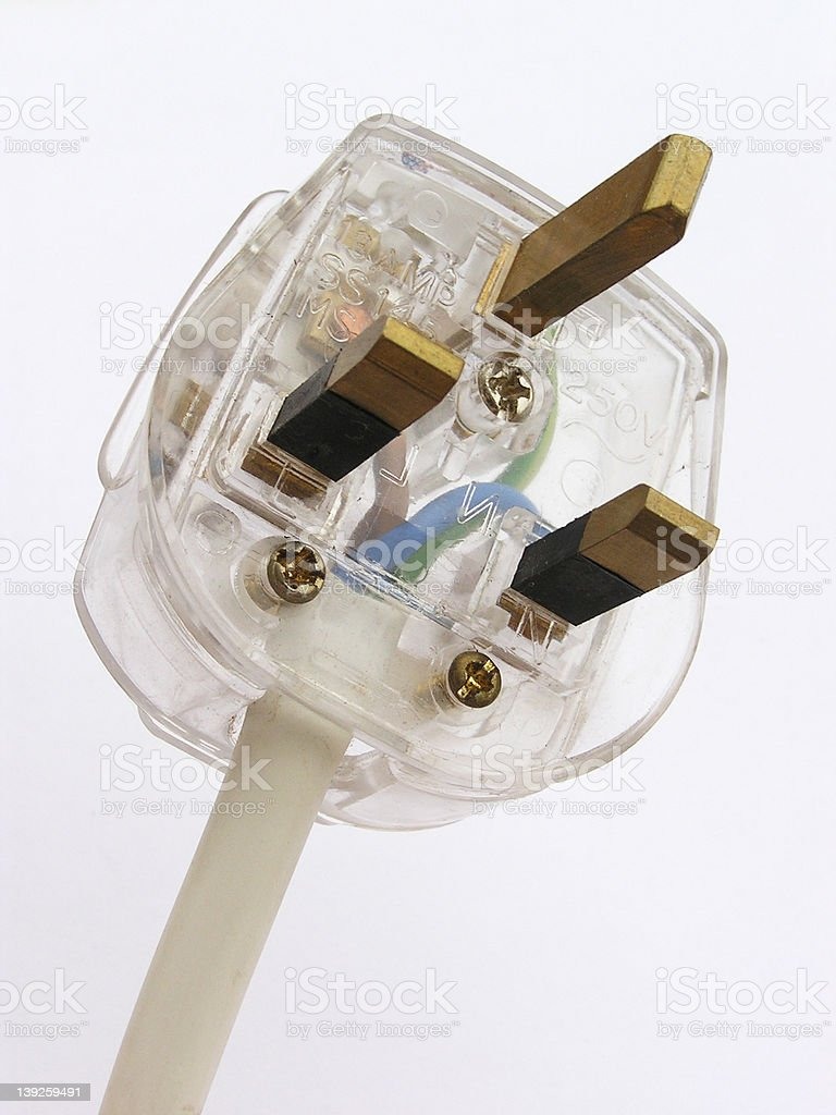 Electrical plug royalty-free stock photo