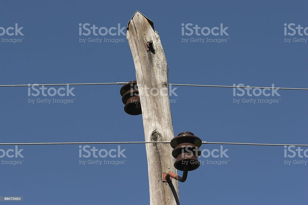 electrical pole royalty-free stock photo