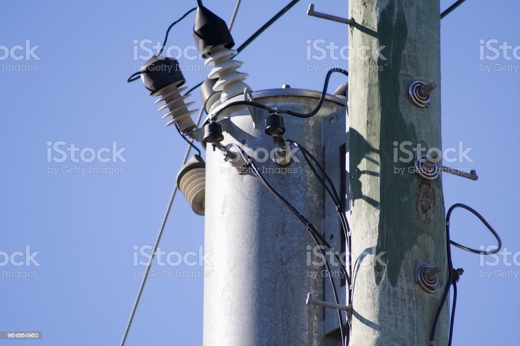 Electrical pole top royalty-free stock photo