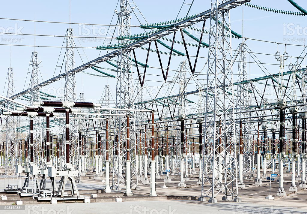 Electrical power Distribution stock photo
