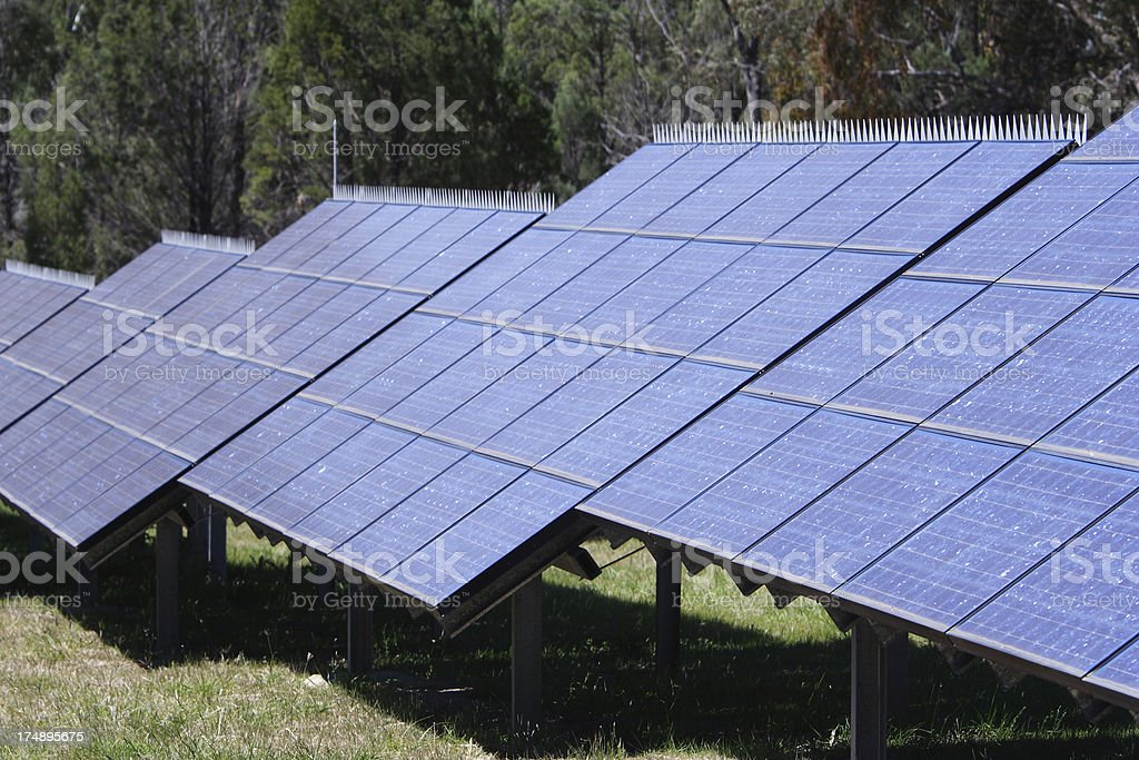electrical power from the sun royalty-free stock photo