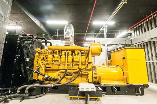 Electrical power generator and eletrical baod in large building interior