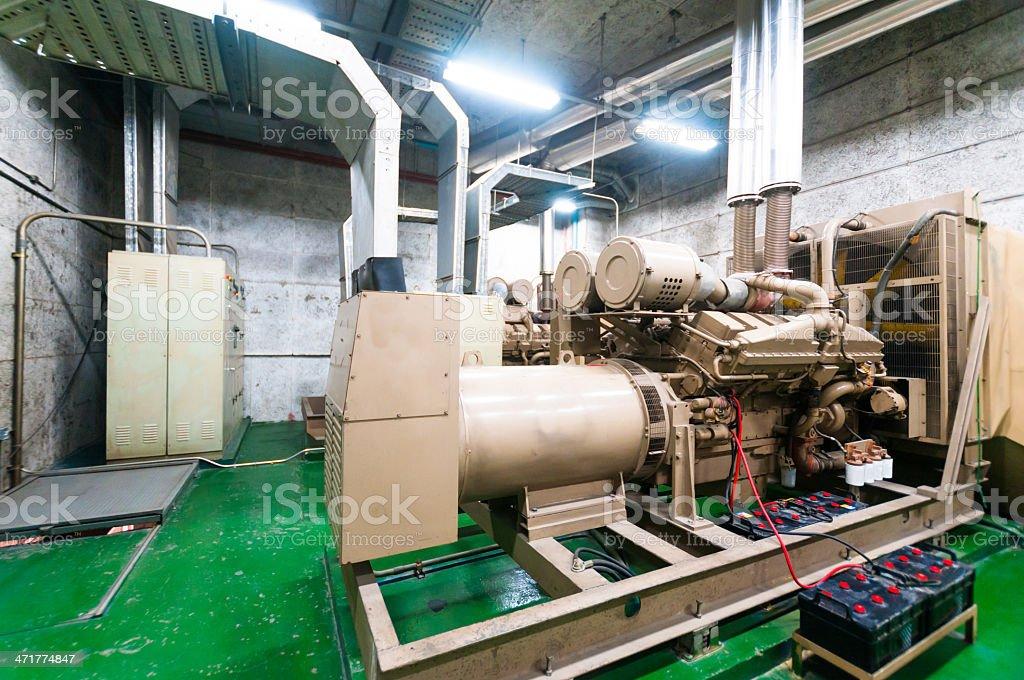 Electrical power generator royalty-free stock photo