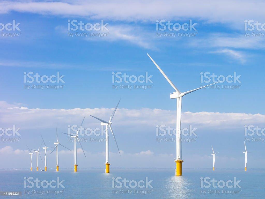 Electrical power generators at sea royalty-free stock photo