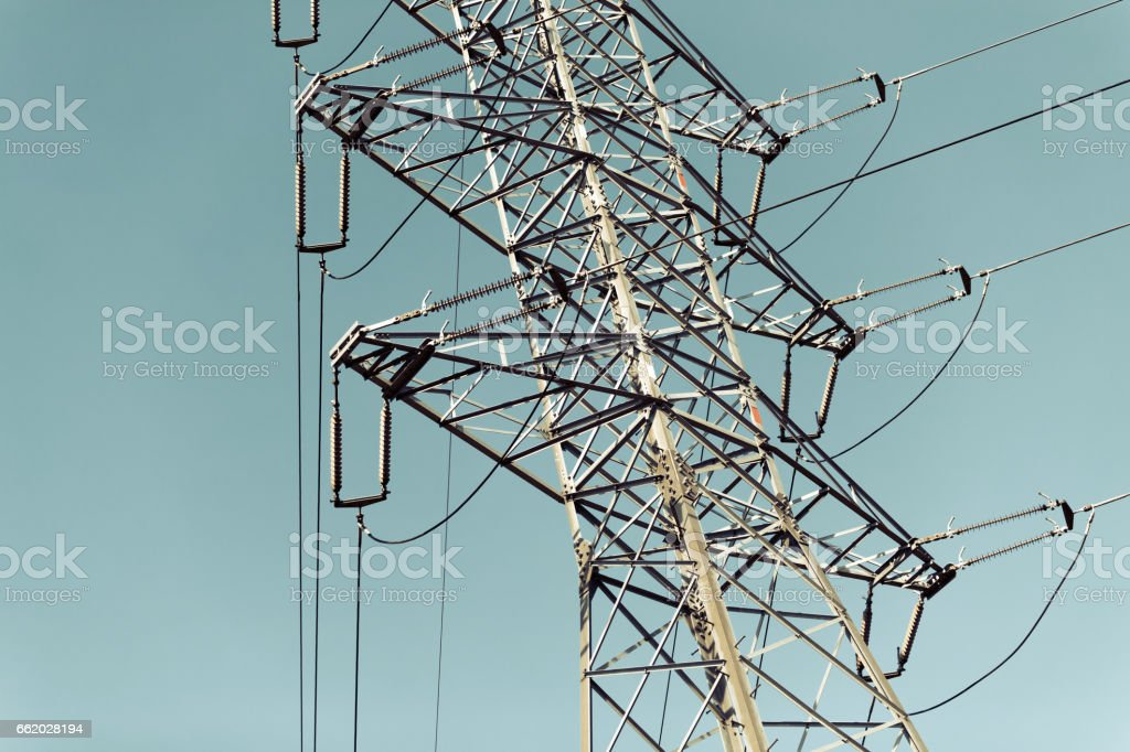 Electrical power grids and lines as abstrac background royalty-free stock photo