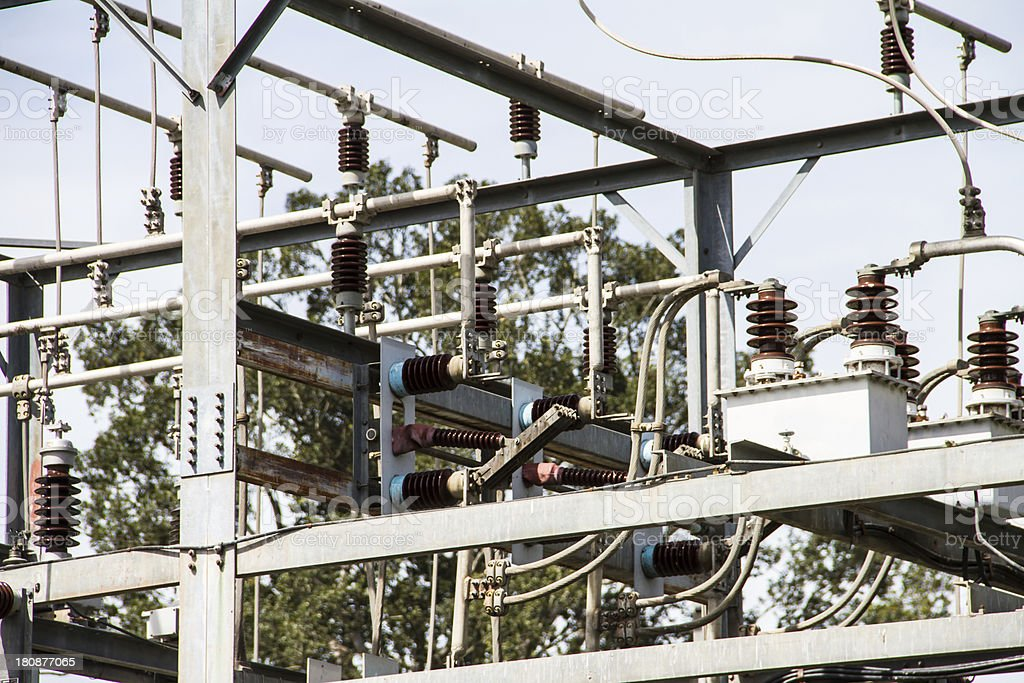 Electrical power station. royalty-free stock photo