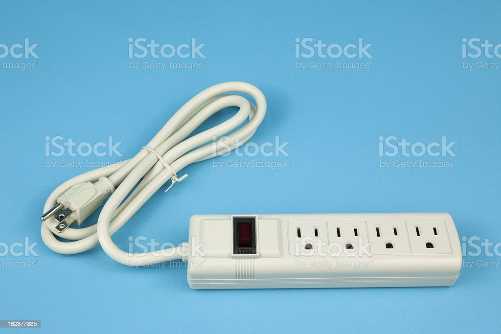 Electrical Power Strip royalty-free stock photo