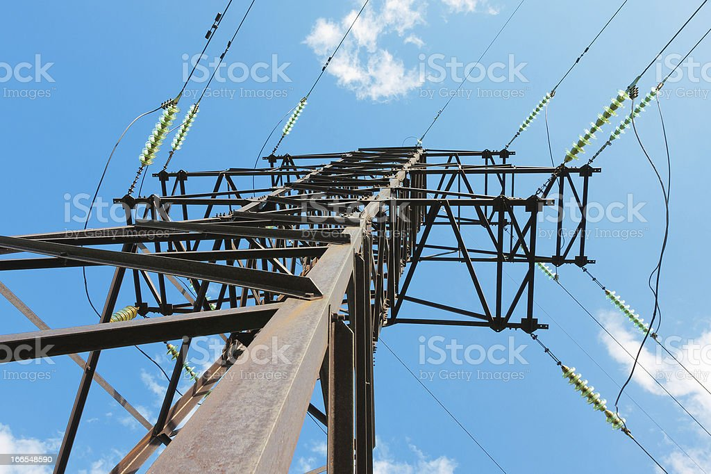 Electrical powerline royalty-free stock photo