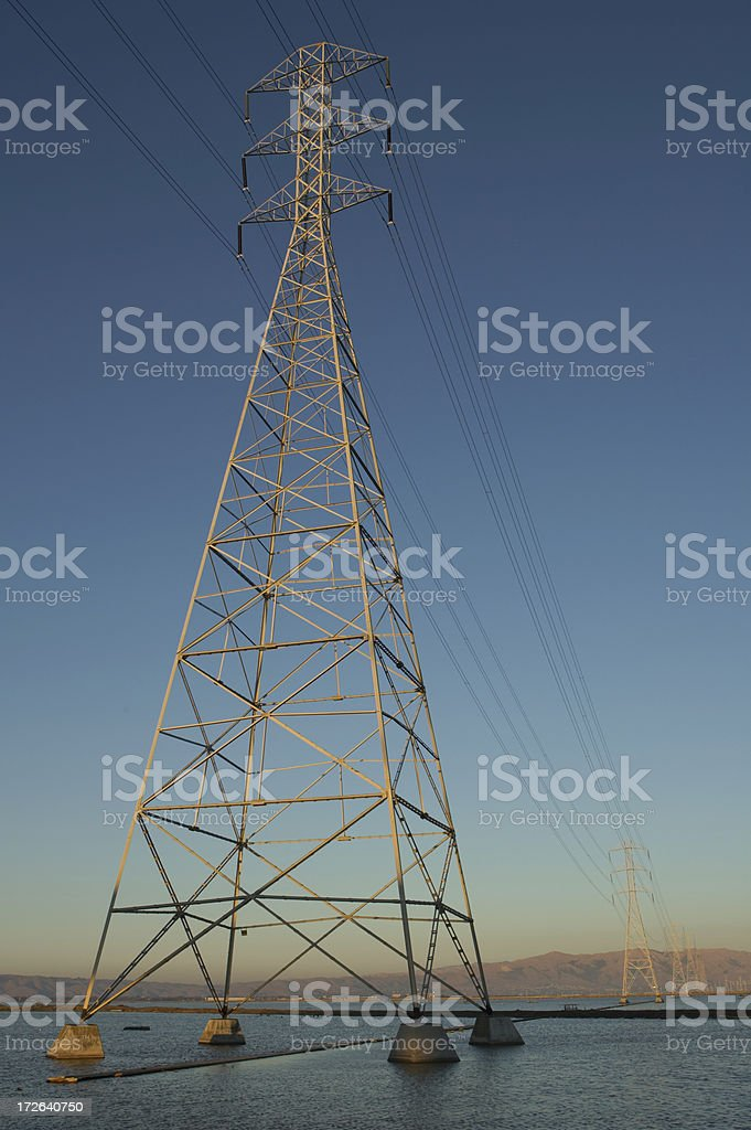 electrical powerlines stock photo