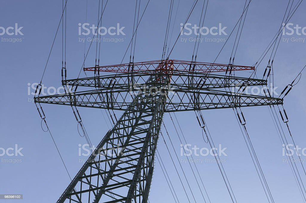 Electrical Pylon royalty-free stock photo