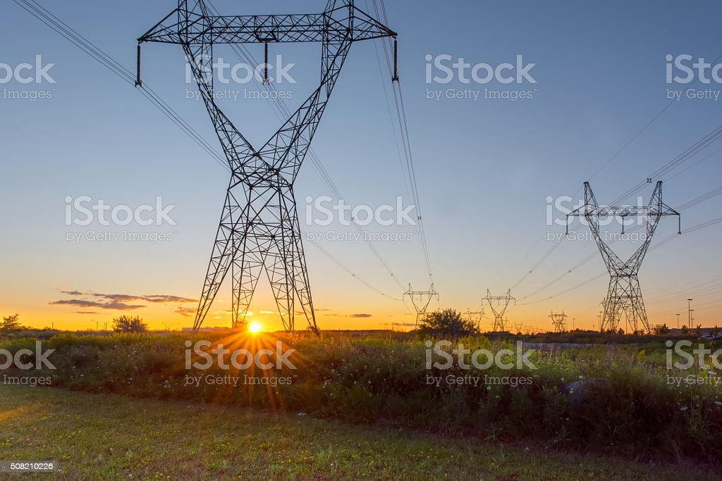 Electrical Pylons stock photo
