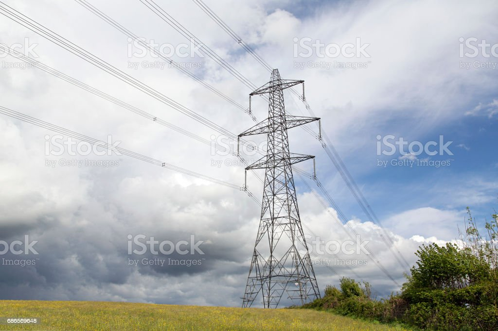 Electrical Pylons royalty free stockfoto