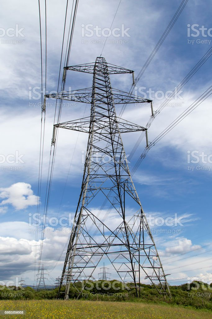 Electrical Pylons royaltyfri bildbanksbilder