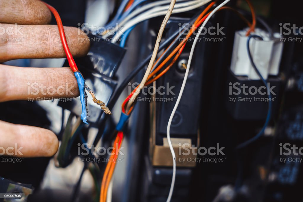 electrical repairs in cars stock photo