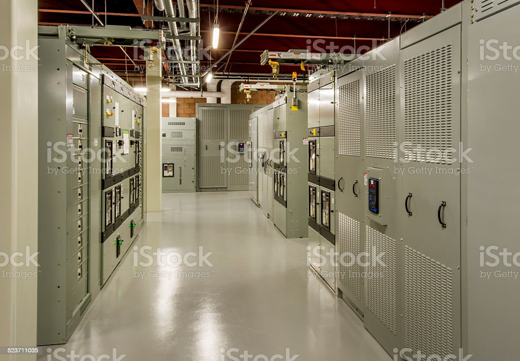 Electrical Room for Data Center stock photo