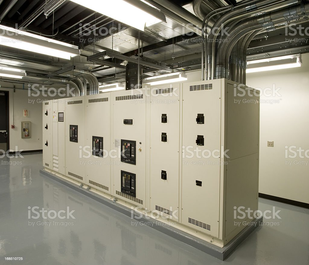 Electrical Room stock photo