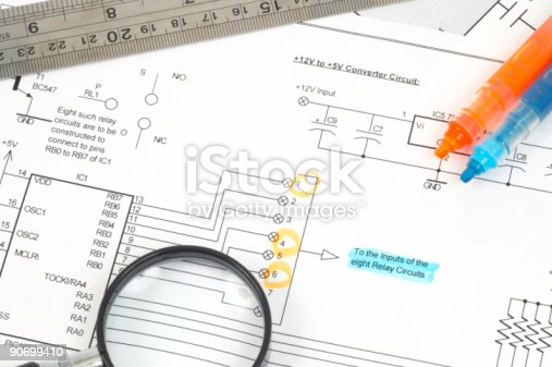 90871912istockphoto electrical scheme close up 90699410