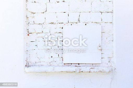 istock electrical shield is painted white 488380316