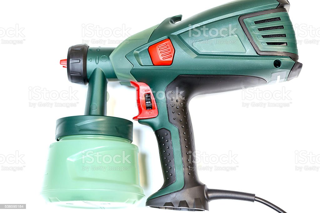 Electrical spray gun for coloration stock photo