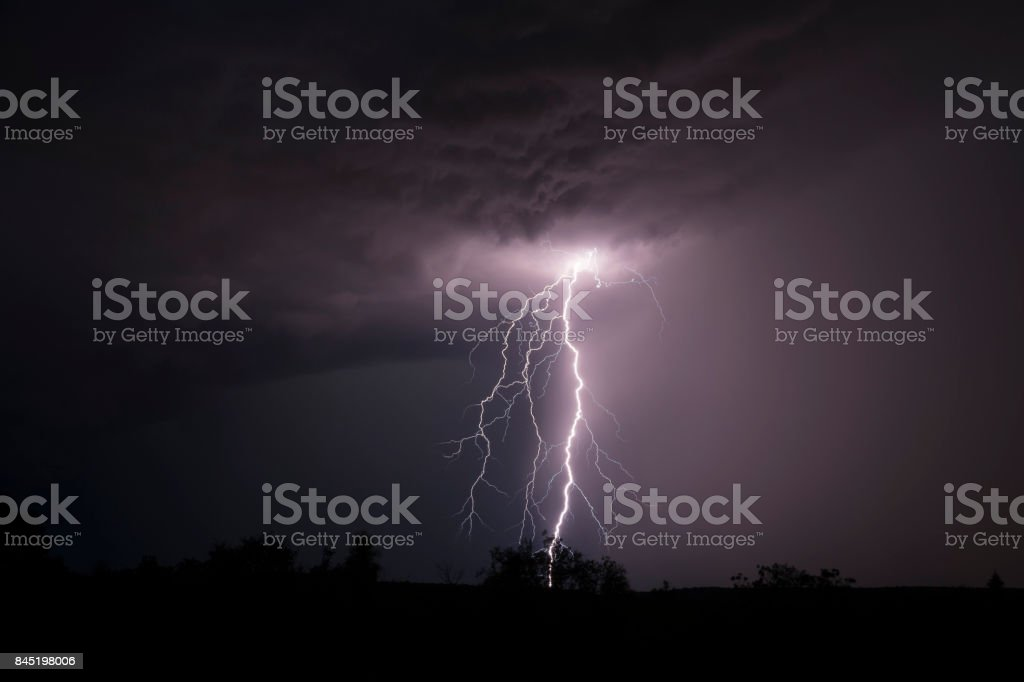 Electrical storm stock photo