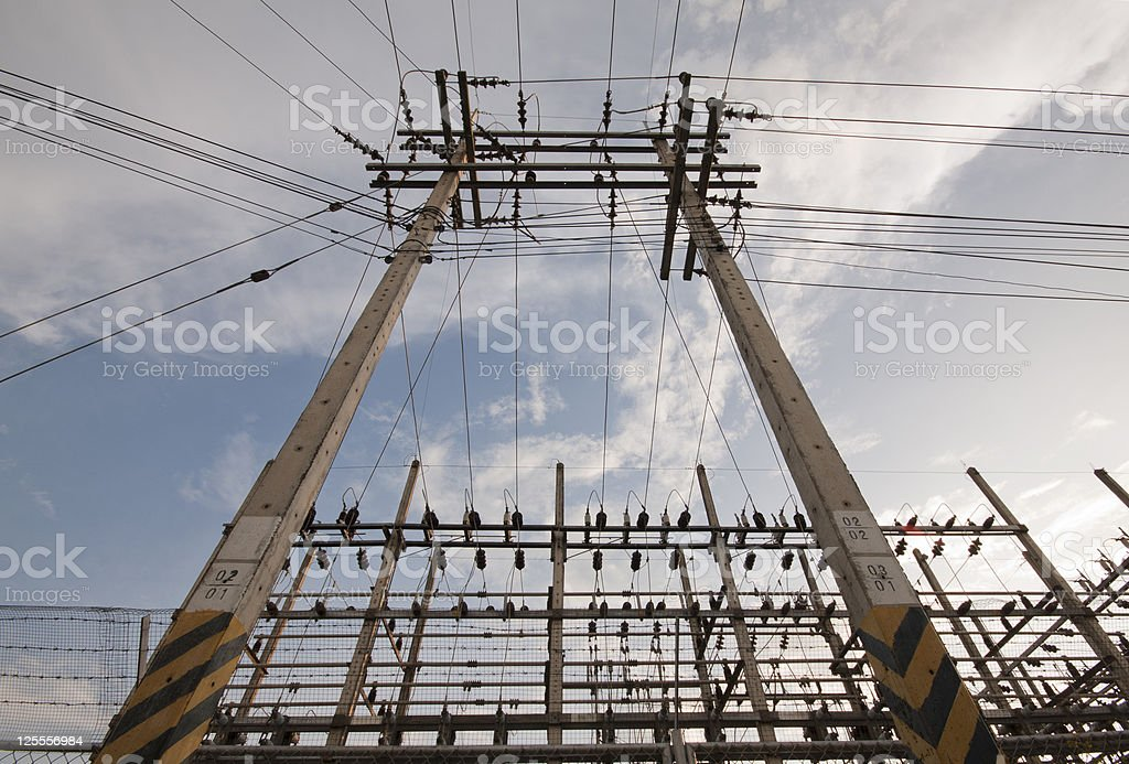 Electrical substation. stock photo