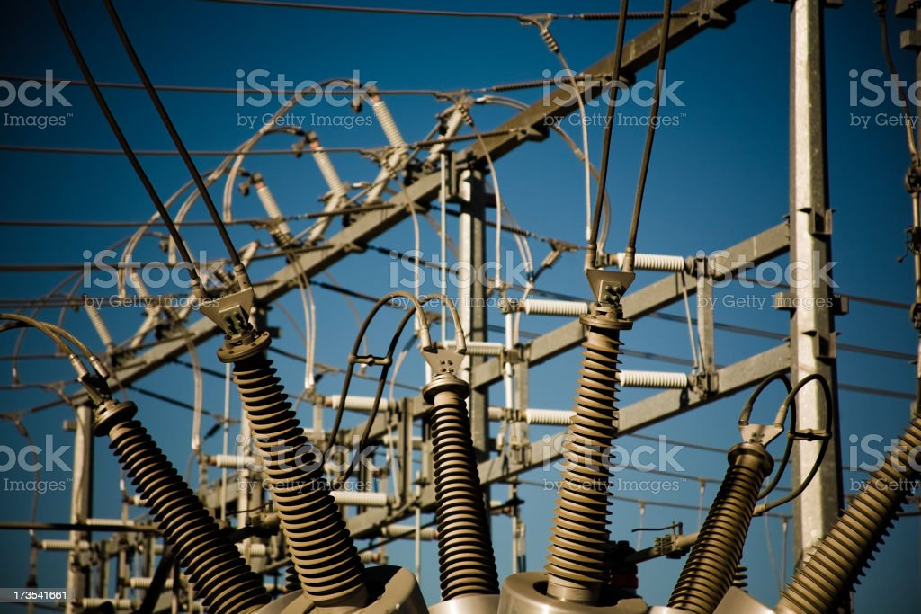 Electrical Substation royalty-free stock photo