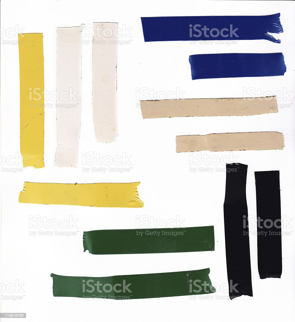 Electrical Tape Samples stock photo
