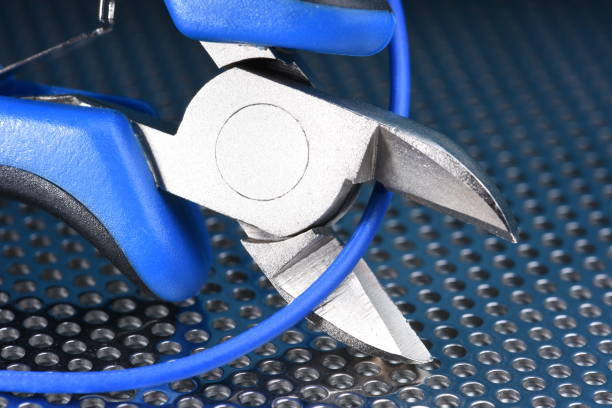 Electrical Tool and Cable Close-up stock photo