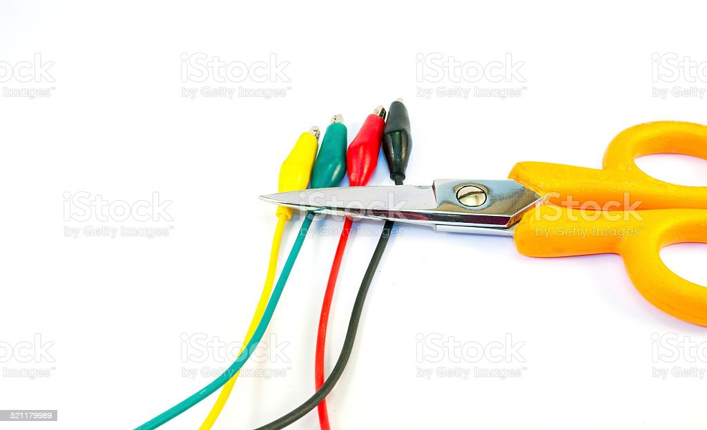 Electrical tools. Color image stock photo