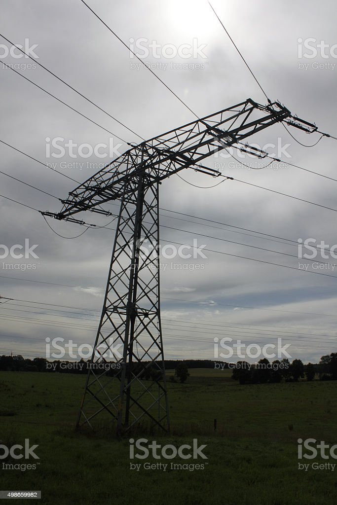 electrical tower pylon high voltage energy Strom stock photo