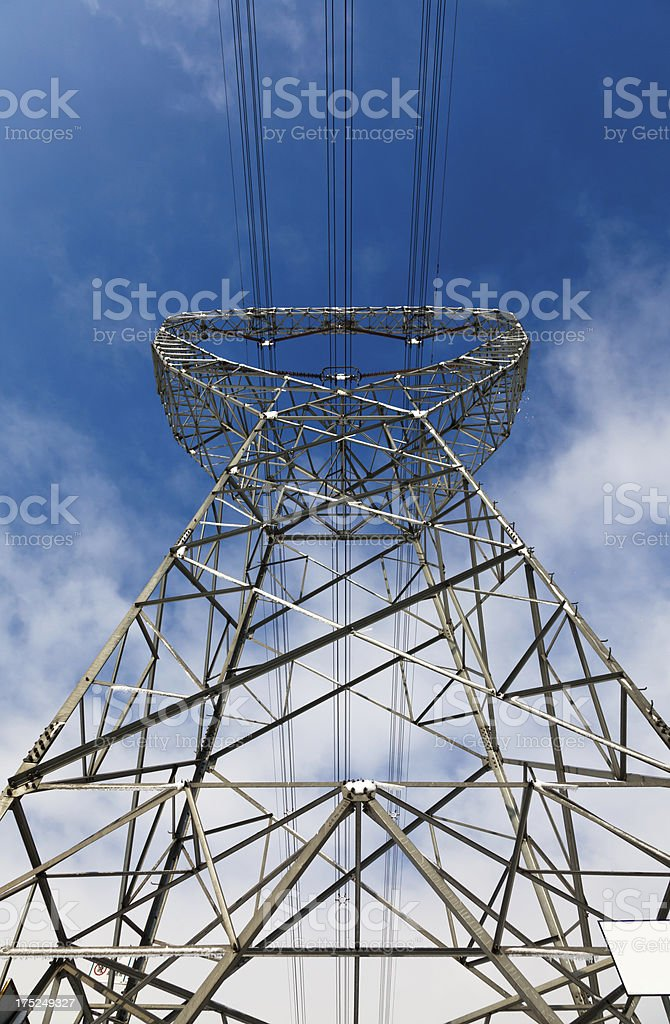 electrical tower structure royalty-free stock photo
