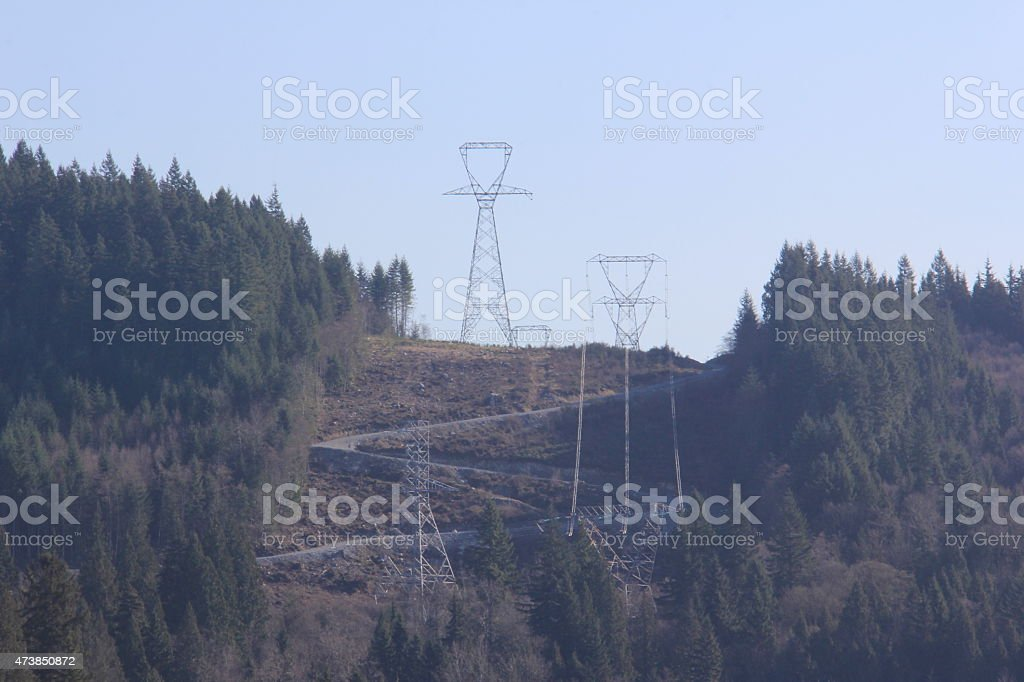 Electrical Transmission Towers stock photo