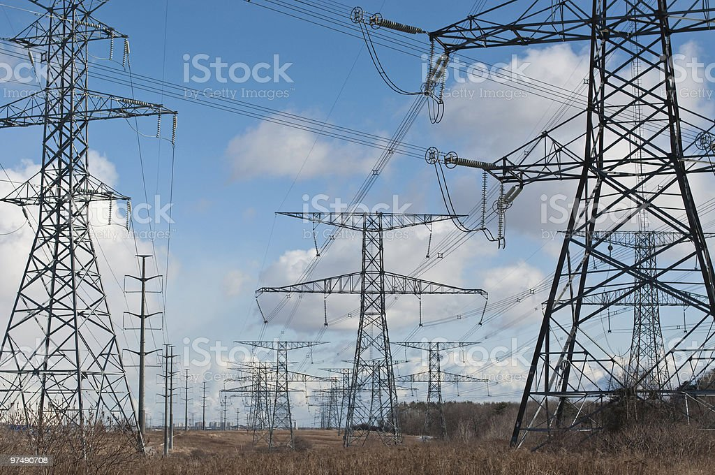 Electrical Transmission Towers (Electricity Pylons) royalty-free stock photo