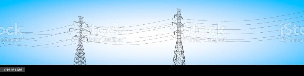 Elektrische Traversen und aktuellen Elektrokabel, Stromverteilung – Foto