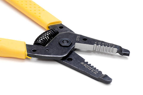 Electrical Wire Stripping Cutting Pliers stock photo