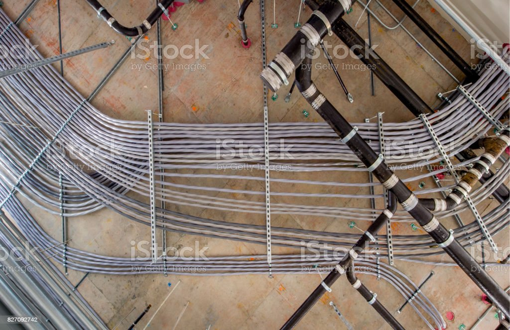 Electrical Wiring And Conduit Stock Photo - Download Image ... on power wiring, receptacles wiring, aluminum wiring, ballasts wiring, electrical wiring, transformers wiring, junction box wiring, panel wiring, emt wiring, copper wiring, lighting wiring, thermostats wiring, tube wiring, hvac wiring, control wiring, switch wiring, circuit wiring, home wiring, cable wiring, well wiring,