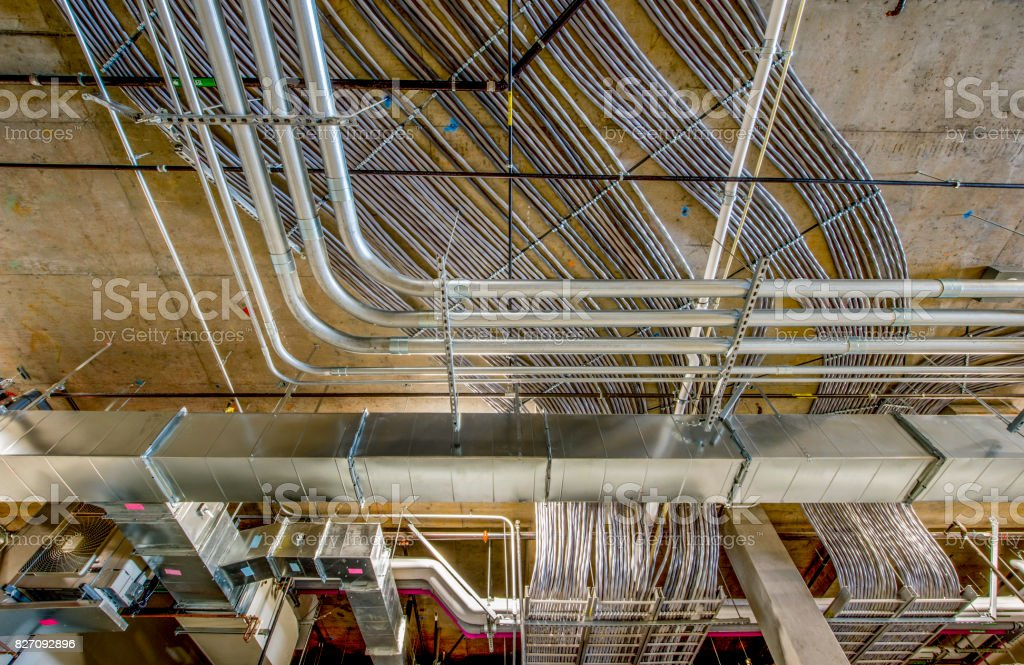 Excellent Electrical Wiring And Conduit Stock Photo More Pictures Of Cable Wiring 101 Carnhateforg