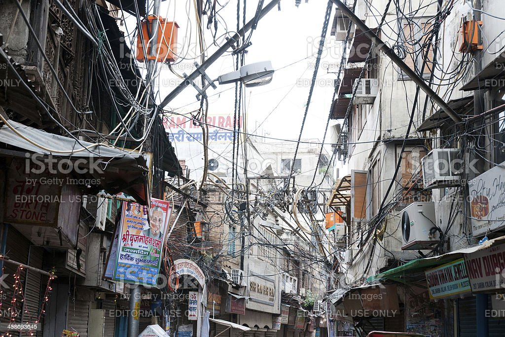 Miraculous Electrical Wiring In Old Delhi India Stock Photo More Pictures Of Wiring 101 Ferenstreekradiomeanderfmnl
