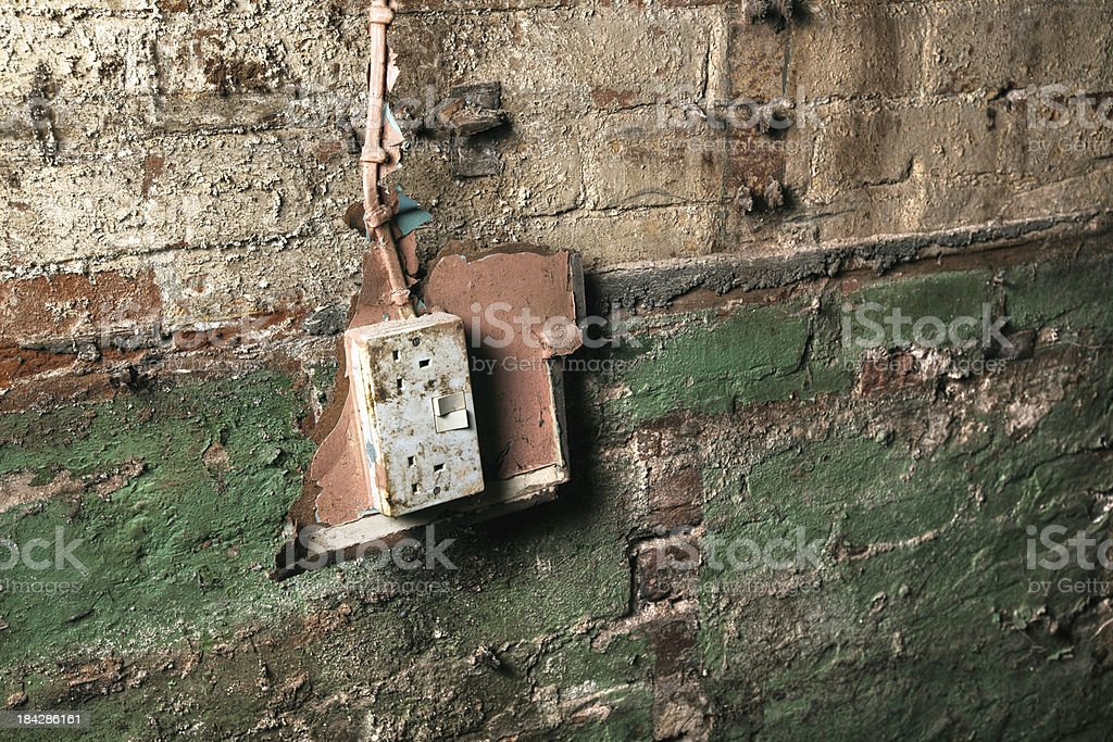 Electrical wiring problem royalty-free stock photo