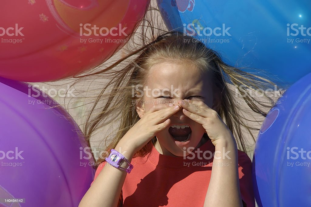 Electrically Charged Balloon Witch stock photo